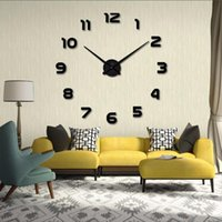 Wall Clocks Large Clock Sticker Acrylic Silent Digital Big 3D DIY Modern Design For Living Room Home Decor