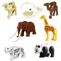 PG1049 1130 동물 minifigs 빌딩 블록 벽돌 낙타 맘모스 코끼리 미니 그림 장난감 선물 어린이 아이