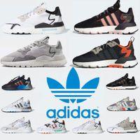 Box 2021 Nite Jogger 남성 여성용 신발 러닝 신발 트리플 블랙 화이트 최고 품질 스포츠 골드 통기성 트레이너 스니커즈 크기 36-45 # 6ZA