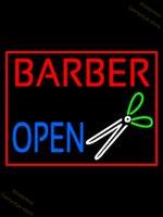 Banane in der Hand Split Friseur Open Shop Haarlogo Salon Barber Shop Schönheitssalon mit Mädchen Neonlichter für Zimmer Neonzeichen Glas