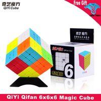 Qiyi Qifan Magic Speed Cube Stickless 6x6x6 Black Competition Puzzle 6x6 Brinquedos Educacionais Brinquedos Educativos para Crianças Presente