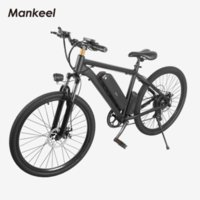 MK010 Electric Bicycle 26inch Mankeel smart scooter E-bike 120KG 10.4AH Battery 40KM Max Mileage CE RoHS UL FCC Certifications Poland Warehouse