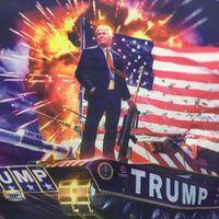 Fashion Hanging 90*150cm Digitally Printed Flag Home Outdoor Decor Donald Trump Pattern Tank Banner