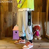 2021 Новые права Zazomde повседневные BROEK Мужчины Свободные протрите Трубы мода летняя работа Японская уличная одежда Красивая многосторонняя