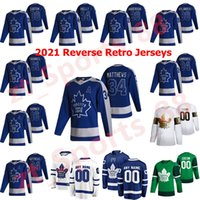 Toronto Maple Leafs 2021 Reverse Retro Hockey Jerseys Jake Muzzin Zach Hyman Tyson Barrie Jack Campbell Frederik Gauthier Costume Costume