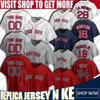 34 David Ortiz 28 J.D. Martinez Jersey Boston Boston Rosso Baseball Sox Andrew Benintendi Jerseys Jackie Bradley Jr. Jersey Chris Vendita Maglie