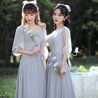 Bridesmaid Dress simple atmosphere new thin cover meat banquet evening host usually wear summer group