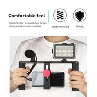 Stabilizzatore Telefono Smartphone Video Case Rig Handheld Live Streaming per YouTube Accessori per lo studio di illuminazione mobile