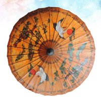 Umbrellas 1pc Classic Hand-painted Oil-paper Umbrella Decorative Oiled Paper Crafts For Bar Store Tearoom Decor