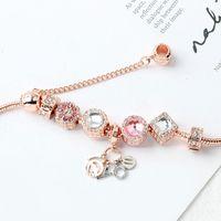 2021 New Pandora Rose Gold I Love You pendant bracelet fashion jewelry wholesale