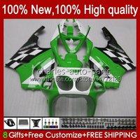 Тело для кузова для Kawasaki Ninja ZX-750 ZX7R ZX750 Зеленый белый фондовый ZX 7 R 96 97 98 99 2000 2001 2002 2003 28HC.10 ZX 7R ZX 750 ZX-7R 1996 1997 1998 1999 00 01 02 03 OEM