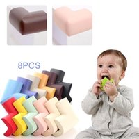 Corner&Edge Cushions 8 Pcs Lot Children's Protection Corner Infant Soft Safety Edge Guards Protector Baby Kids Solid Right Angle Furniture