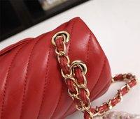 2021 Plain-Sheepskin y Cowhide-Caviar Bolsas de hombro Mujeres Diseñador de lujo Marca Moda Bolsa Monedero Mini Classic Handbag Crossbody Ilustraciones Textura Cadena Bolsos