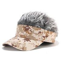 Outdoor Hüte Unisex Lustige Tarnung Perücke Kappe Flair Hair Visor Casual Golf Caps Baseball Elternkind Street Trend