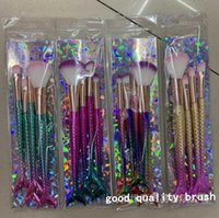 Makeup Pinsel 4 teile / satz Gradient Farbe Fischwaage Schwanz Konturierung Lidschattenbürste Schönheit Werkzeug Comestechnik