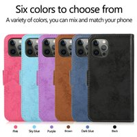 2in1 Wallet Phone Cases for iPhone 13 12 11 Pro Max X XS XR 7 8 Samsung Galaxy S21 S20 Note20 Ultra Note10 S10 Plus A71 A51 Retro PU Leather Flip Stand Cover with Photo Frame