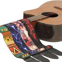 Cinturino per chitarra in nylon per cinghia multicolore per basso elettrico acustico cinghia multicolore regolabile cinghie colorate