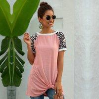 Nova Moda O-pescoço Curto Streetwear Long Retalhos Regular Broadcloth Algodão MSFilia 210414