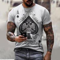 남성용 티셔츠 대형 Tshirts 남자 Streetwear 힙합 짧은 소매 카드 3D 인쇄 옷 펑크 록 고딕 티셔츠 캐주얼 탑