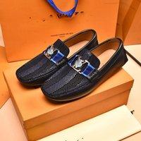 الجلد المدبوغ الرجال عارضة الأحذية الفاخرة 2021 مصمم رجل المتسكعون الأخفاف تنفس الانزلاق على أسود القيادة الأحذية الصيف حذاء المشي مفتوح