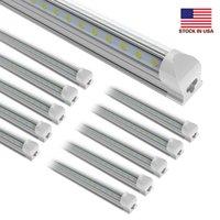 25pcs 8ft 150w, V 형 2ft 3ft 4ft 5ft 6ft 쿨러 도어 LED 튜브 T8 통합 LED 튜브 양면 LED 조명 85-265V 주식