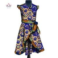 Roupas étnicas África Crianças Dashiki 2021 Moda Meninas Bonitos Vestidos Bazin Riche Doce Africano Tradicional WYT283