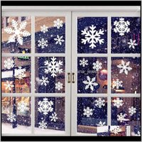 Wall Décor Home & Garden Year Decorations Restaurant Shopping Mall Door Stickers Christmas Window Glass White Snowflake W Drop Delivery 2021