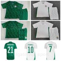 2021 2022 Cezayir Futbol 13 İslam Slimani Jersey Set 7 Riyad Mahrez Aissa Mandi Rami Bensebaini Rais Mbolhi Abdelhafid Tasfaout Futbol Gömlek Kitleri
