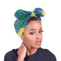New african pattern bow headband women headwrap elastic turban headscarf fashion hair accessories hair scrunchies