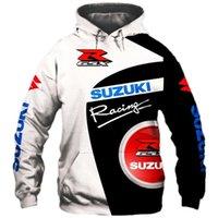 Hoodie 2021 Весна и осень Suzuki 3D Printing Спорт Пуловер Мужской Мотоцикл Куртка Хип-Хоп Улица Тренд Trend Top S