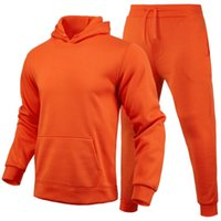Men Tracksuits Solid Color Sportswear Autumn letter printing Men's Sets Jacket + Pants Casual Tracksuit Male Gyms Sweatshirt 2 Piece Set
