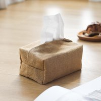 Tissue Boxes & Napkins Linen Fabric Case Cover Box Holder Rectangle Container Home Car Towel Napkin Papers Bag Pouch Chic Table Decoration