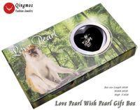 Qingmos Wish Pearl 16mmモンキーケージチョッカーズ女性のためのネックレストレンディカキ愛ペンダントチェーンジュエリー-3657