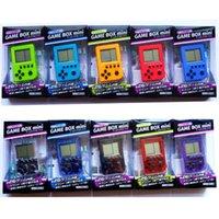 100 unids videojuegos jugador clásico tetris electronico mini cibernética juguetes de educación para niños llavero regalos jugadores portátiles