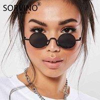 Skinny Sorvino 2020 Retro Round Steampunk Occhiali da sole Steampunk Uomo Donne Donne Designer Goggles Lady Mens Circolo Glasses Sun Shades SP152