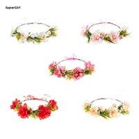 Hair Clips & Barrettes J78E Boho Artificial Flower Garland Crown Wedding Bride Headband Wreath Beach Halo