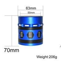4 Уровень 63 мм Герб Герб для шлифовалов Римская цифра Ротационные сигареты Алюминиевые сплава Ручная машина DWF6245
