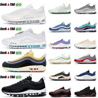 air max airmax 97s mens running shoes Mschf Lil Nas x Satan 97s Triple Black White Red Leopard Reflective Bred men women trainer outdoor sneakers