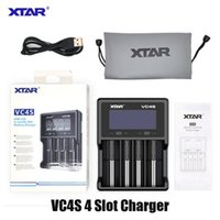 Аутентичные XTAR VC4S Зарядное устройство для батареи InteLigent MOD 4 Слот с ЖК-дисплеем для 18350 18550 18650 16650 Литий-ионные батареи Зарядные устройства Зарядные устройства Батареи питания Powerbank