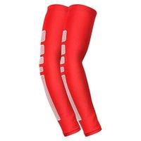Almohadillas de rodilla del codo 1 unid hombres antideslizante silicona brazo calentadores baloncesto brazalete extendido deporte muñeca compresión anti-uv brazalete soporte