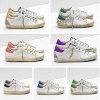إيطالي ماركة أحذية رياضية ذهبية الكرة ستار الكلاسيكية بيضاء الأحذية القذرة الأحذية أوزة مصمم نجم الرجال والنساء عارضة الأحذية G33MS590 PL