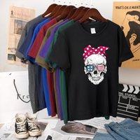 Hillbilly Funny Skull Punk Men Mens Tops Fashion Casual Short Sleeve Sun Tshirts Chemise Femme Mujer Verano