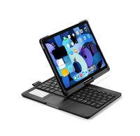 360 graders rotationsväska till iPad Pro 11 10.9 tum med trådlöst Bluetooth-tangentbord Swivel Stand Tungt stötskyddat lock