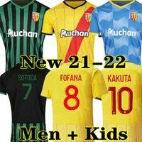 Kakuta Maillot Lens RC Futbol Formaları 21 22 Ganago Sotoca Fofana Gradit Fortes Banza Cahuzac Dooure 2021 2022 Futbol Gömlek Erkekler Kids Kits Ekipmanları Ev