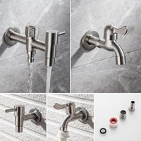 Bathroom Sink Faucets 304 Stainless Steel Garden Faucet Wall Mounted Brushed Outdoor Bibcock Wash Basin Mop Lengthen Torneira Parede