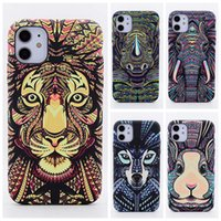 For iphone 12 Pro Max case 1211 XR XSMax 7 8 phone cases Luminous frosted forest king mobile phoneshell original relief animal soft shell