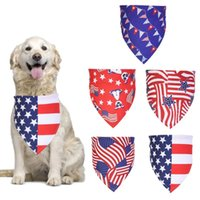 American Flag Pet Scarfs Puppy Dog Apparel Accessories Independence Day Dogs Bandana Neckerchief