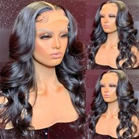 Body Wave Lace Closure Wig 13x4 Lace Frontal Human Hair Wigs for Black Women Brazilian Pre-plucked Loose Deep Wave Wigs