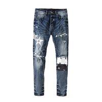 Jeans da uomo High Street Marca AMR 2021SS Stampa Patch Strappato uomo Pantaloni per uomo Abbigliamento Techwear Pantaloni per cargo Y2K TRAF