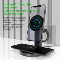S36 3 in 1 magnetic wireless Phone Charger Holder Aluminium Alloy Bracket For IPhone 12 Pro Max 12mini Rotation Fast Charging Stand
